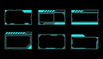 rektangelgränssnittsfönsteruppsättning vektor
