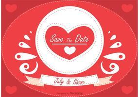 Romantische Sparen Sie den Datum Vektor