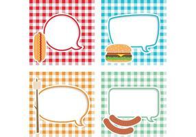 Picknick Vektor Text Bubbles