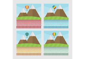 Picknicktisch Landschaften