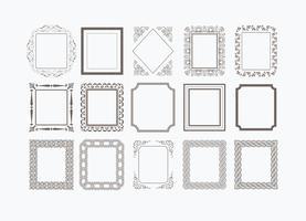 Dekorativa vektorramar vektor
