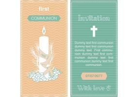 Första kommunionen Inbjudningsvektor vektor