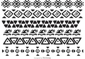 Hawaiian stammönster vektorer pack 2