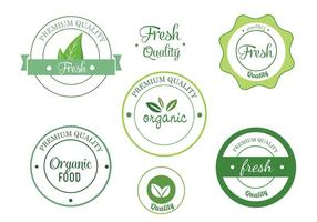 Gratis Eco Vector Etikett Set