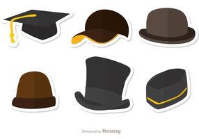 Färgade hattar vektorer pack 1