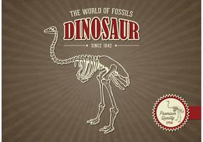 Gratis Vector Dinosaur Retro Design