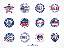 Gratis Vector Made In USA Etiketter