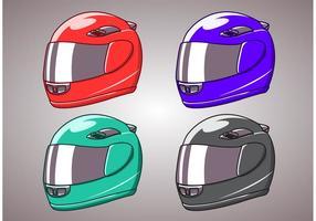 Motorradhelm isoliert vektor