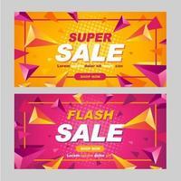 super försäljning marknadsföring banner vektor