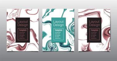 modern a4 abstrakt marmoraffisch vektor