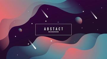 vågig abstrakt utrymme stil lutning design vektor