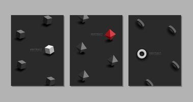 abstrakt svart bakgrund med former vektor