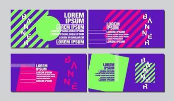 geometrisk form banner i ljus popkonst stil