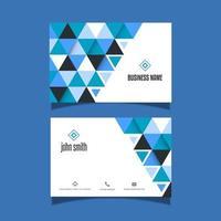 visitkort med låg poly design
