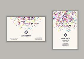 visitkort med abstrakt bokstäver design vektor