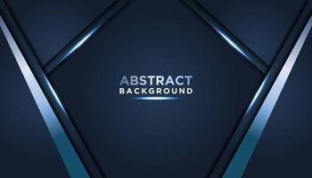 mörkblå abstrakt bakgrund med metalliska lager vektor
