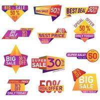 Einzelhandelsverkaufssymbole eingestellt vektor