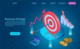 Ziel auf Tisch mit Pfeil Geschäftsstrategiekonzept