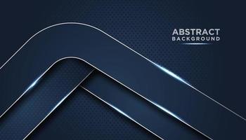mörkblå abstrakt bakgrund med rundade lager vektor