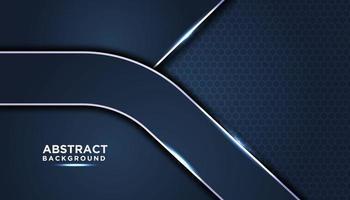 dunkelblaue abstrakte Hintergrundschichten vektor