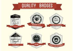 Free vector badge set 2