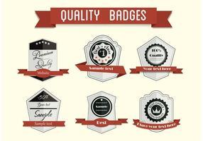 Gratis Vector Badge Set 2