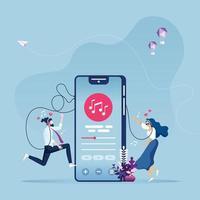 online-musikunderhållningskoncept