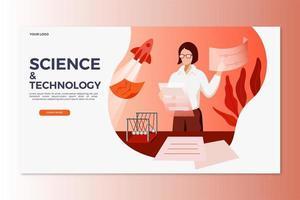 Wissenschafts- und Technik-Landingpage