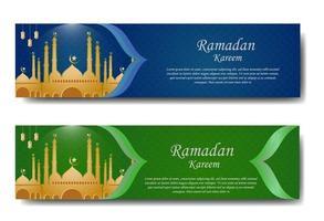 Ramandan Gruß Banner Set vektor