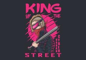 cyber urban kung av gatorna vektor