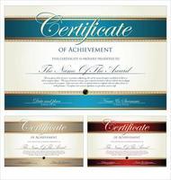 uppsättning certifikat eller examensbevis vektor