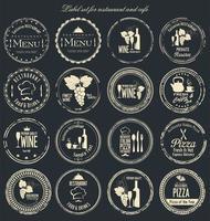 svartvitt etikettkollektion