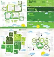 natürliche grüne Infografik