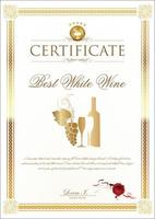 bestes Weißweinzertifikat vektor