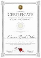 grå gräns '' certifikat för prestation '' vektor