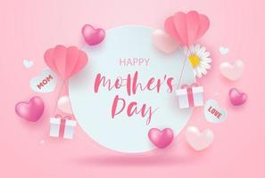 rosa glücklicher Muttertagsverkaufshintergrund vektor