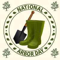 nationella arbor day badge vektor