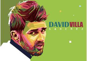 David Villa Vector Porträtt