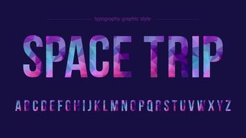 bunte Low Poly Großbuchstaben Typografie