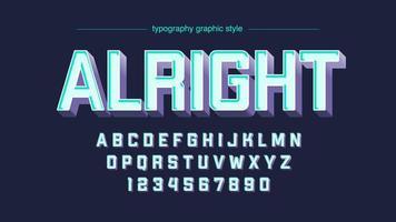 vit fet 3D-typografi