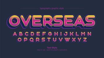 färgglada rundade versaler typografi vektor