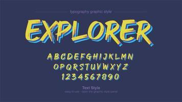 gelbe Pinsel Typografie Design vektor
