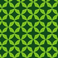 grön retro geometrisk formmönster vektor