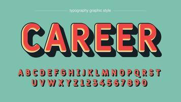 rote 3d fett gerundete Typografie vektor