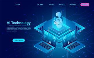 artificiell intelligens robot teknik koncept
