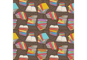 Gratis handdragen vektor stapel böcker sömlös mönster
