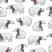 Eisbären nahtloses Muster