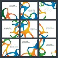 abstrakt sammanflätad formdesignkortuppsättning