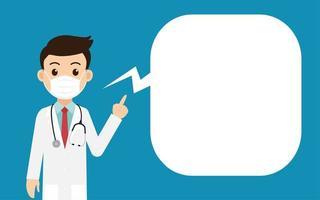 läkare bär skyddsmask vektor