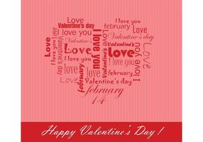 Free Vector Hintergrund für den Valentinstag